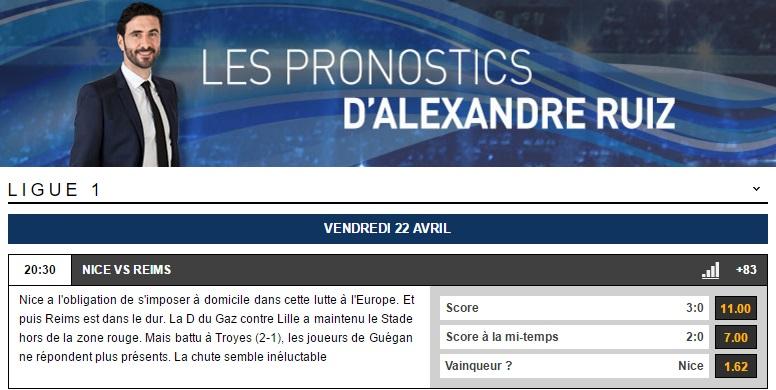 Alex Ruiz partenaire d'un des meilleurs sites de paris en ligne